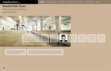 Screenshot des Projektes Angekommen Bahnhof-Deutz