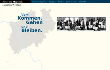 Screenshot des Projektes Route Migration