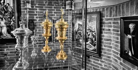 Die Geusenbecher - Dankesgabe der niederländischen Exulanten - werden aufbewahrt in der Schatzkammer des Städtischen Museums Wesel. © Dietrich Hackenberg - www.lichtbild.org