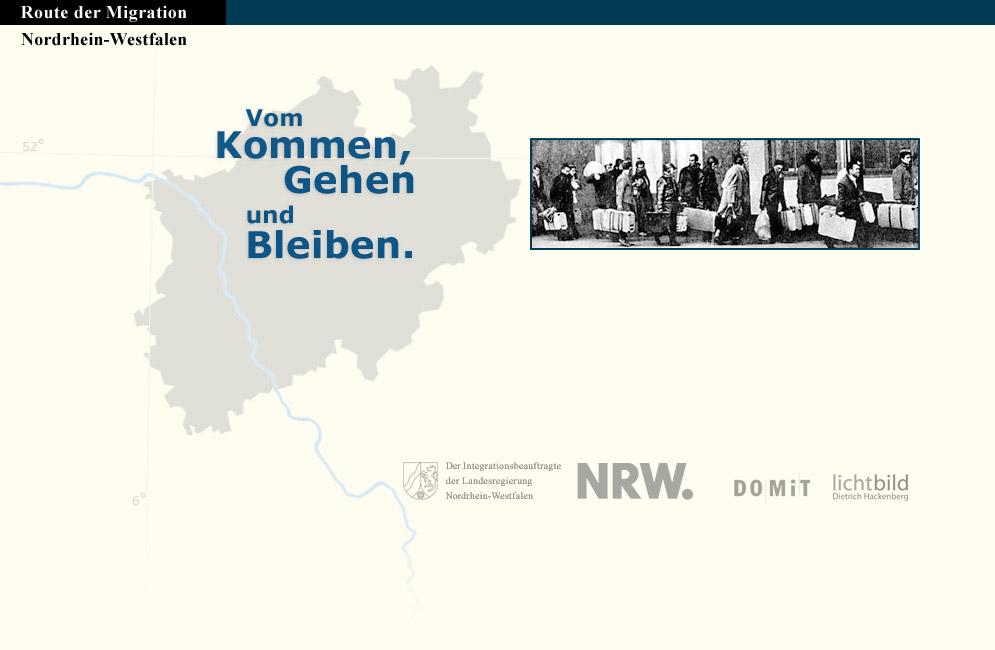 Titelbild der Webseite Route der Migration